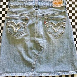 Levi's Embroidered Denim Skirt